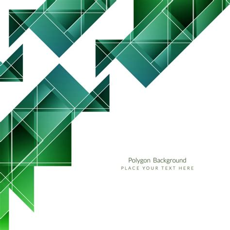modern home design vector green modern polygonal background design vector free