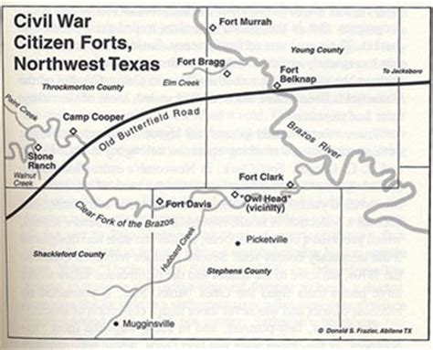texas forts map fort tours fort griffin clear fork