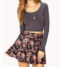 crop top with high waisted skater skirt skater skirts