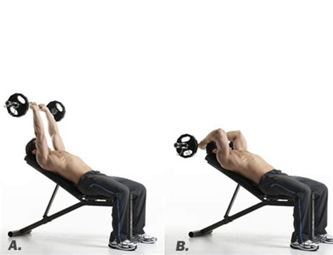 skull crushers on incline bench the best new exercises for every part of a man s body