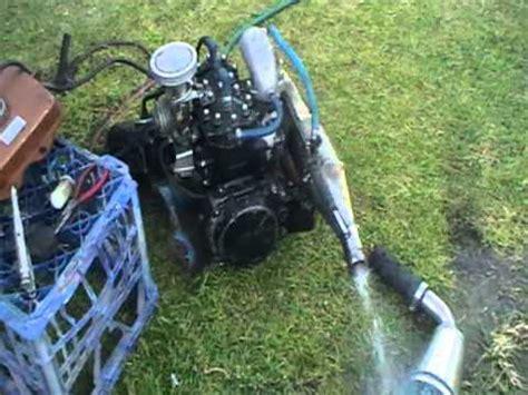Gebrauchte Jetski Motoren by Kawasaki 550 Jet Ski Motor Test Youtube