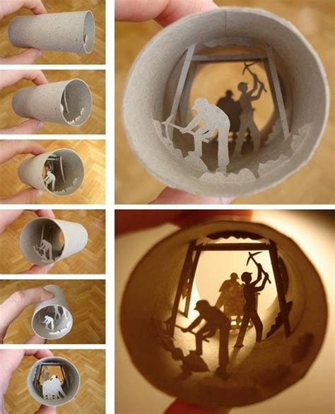 Cool Things To Make With Toilet Paper Rolls - miniature tp dioramas plus 4 other ideas for reusing