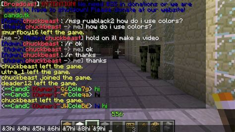minecraft color codes