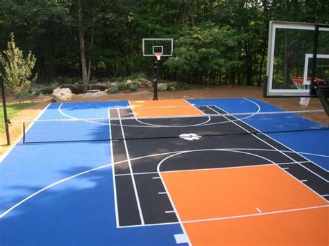 backyard sports courts backyard basketball court ideas to help your family become