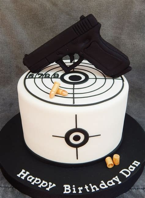 tattoo gun birthday cake gun is styro foam covered in fondant 7 quot vanilla cake