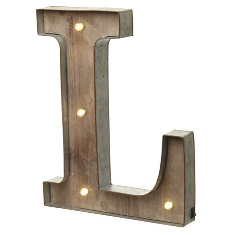 Wall L by Marquee Vintage Lighted Metal Letter L Illuminated Wall