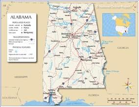 Alabama Usa Map map of alabama and georgia cities