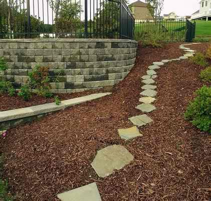 decorative concrete block retaining wall selecting the best retaining wall materials for your landscape