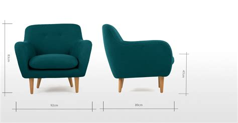 dylan armchair dylan armchair mineral blue made com