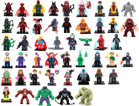 Custom Marvel Heroes custom minifigures fits lego heroes marvel dc