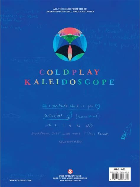 coldplay kaleidoscope coldplay kaleidoscope piano vocal guitar sheet music