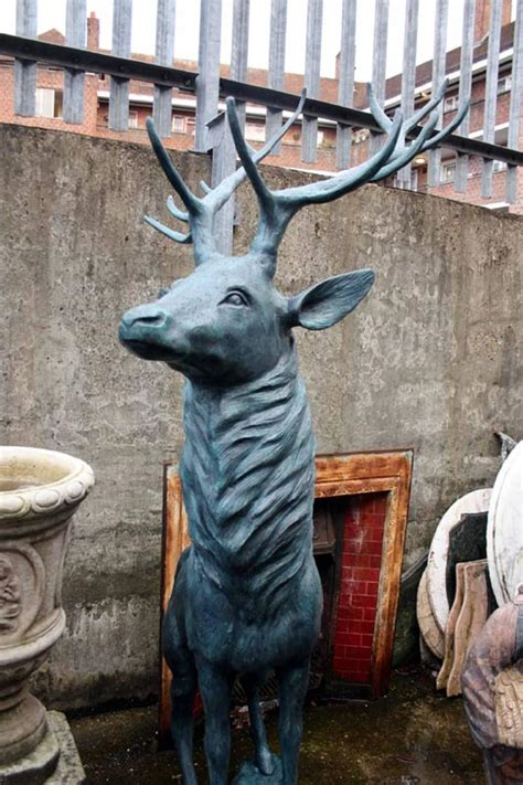 bronze 3 reindeer statue magnificent pair of lifesize bronze reindeer statues for sale at 1stdibs