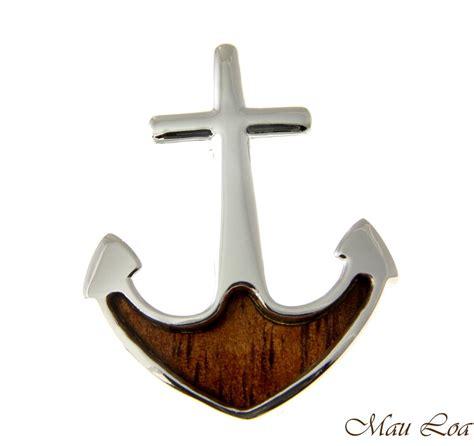 Where To Buy Koa Gift Cards - koa wood hawaiian boat anchor rhodium silver plated brass slide pendant ebay