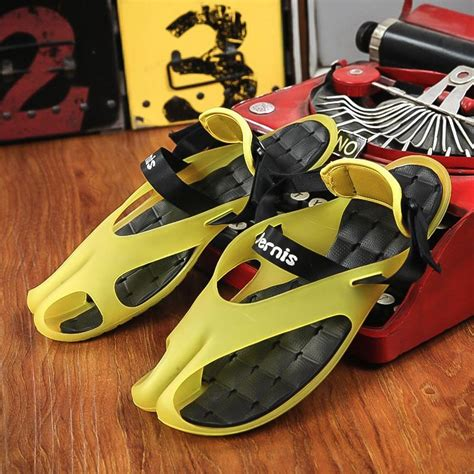 Yellow Black Jelly Flat Shoes 38 tfsland jelly sandals flat heel slippers breathable