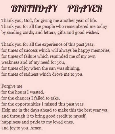 Birthday Prayer For birthday prayers and blessings