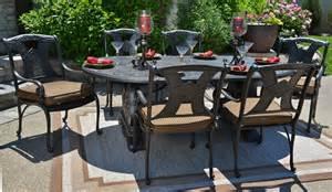 6 person patio set amalia 6 person luxury cast aluminum patio furniture