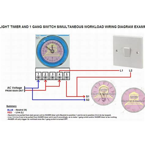 hager time switch wiring diagram circuit and schematics
