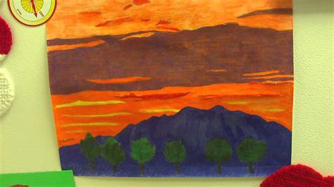 sunset colored pencil colored pencil drawing of the sunset and mount baldy