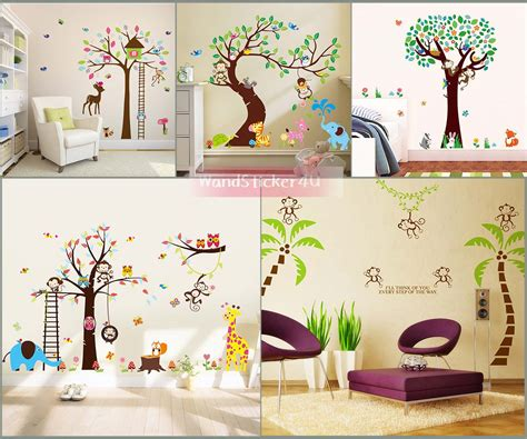 Wandtattoo Kinderzimmer Afrika by Wandtattoo Kinderzimmer Baum Afrika Wald Tiere Zoo