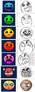 Meme Icons - geometry dash difficulty icons vs memes by fanfriki233