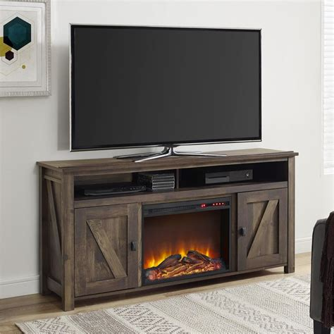 Barn Door Tv Stand Walmart Best 25 Electric Fireplace Tv Stand Ideas On Pinterest