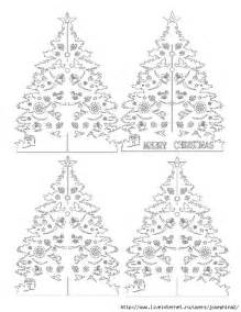 kirigami papercutting christmas tree pattern crafts