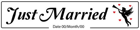 Wedding Just Married by Just Married Cupid Wedding Number Plate
