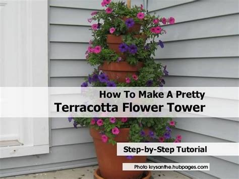 how to make terracotta how to make a pretty terracotta flower tower