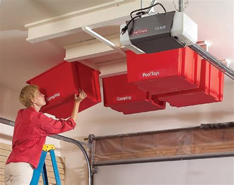 Build Your Own Garage Ceiling Storage by How To Build Garage Storage System Woodworking