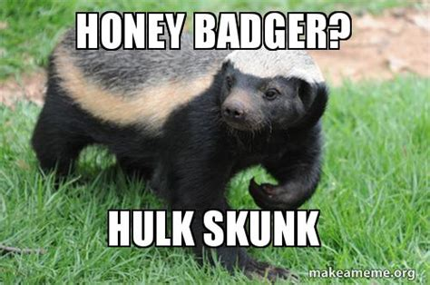 Honey Badger Meme Generator - honey badger hulk skunk make a meme