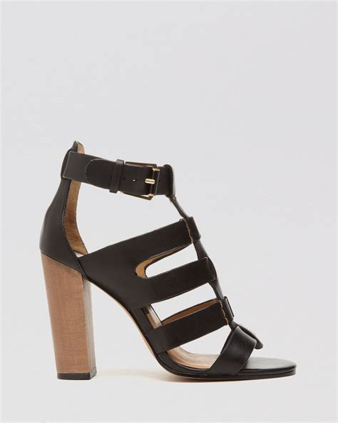 high heel sandals lyst dolce vita open toe gladiator sandals niro high