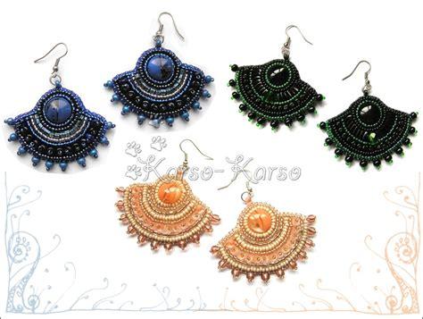 Fan Shape Earring fan shaped earrings by karsokarso on deviantart