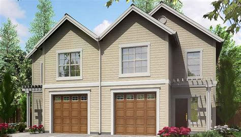 duplex plans that look like single family narrow lot duplex house plans narrow and zero lot line