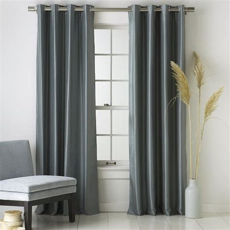 modern grommet curtain panels silk dupioni grommet window panel modern curtains by