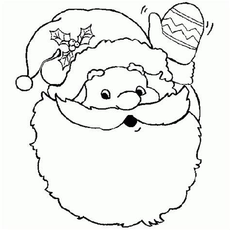 free coloring pages of santa beard