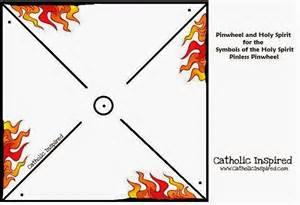 pentecost pin less pinwheel symbol of fire and wind