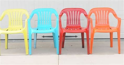 bring new life to your old plastic chairs with krylon