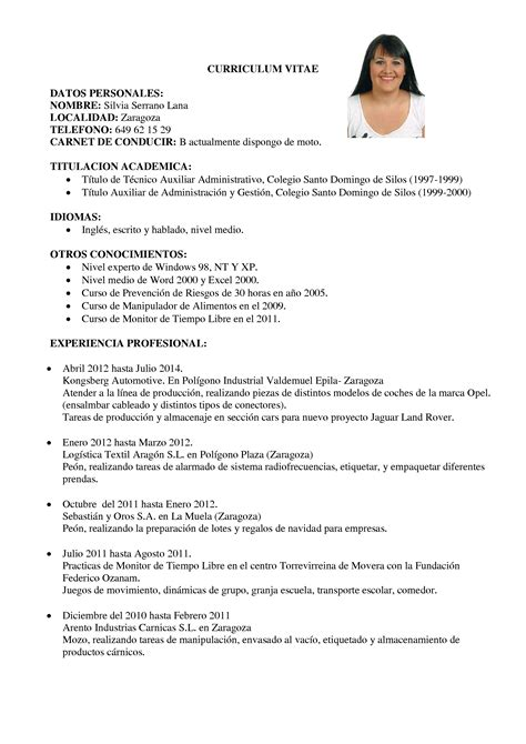 Modelo De Curriculum Vitae Profesional 2014 Modelo Curriculum Vitae 2016 Peru