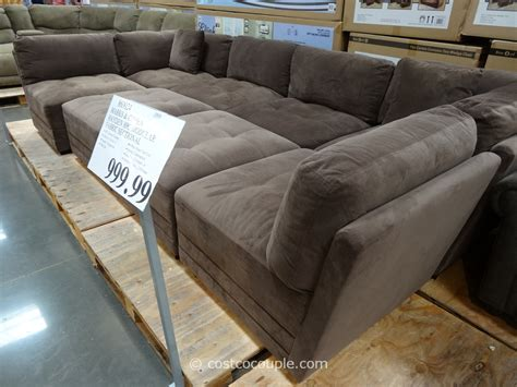 modular sectional costco marks and cohen hayden 8 piece modular fabric sectional