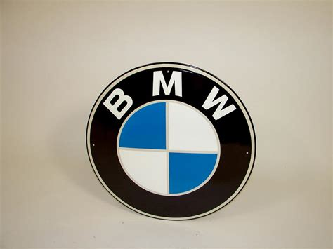 bmw dealership sign n o s bmw automobiles single sided porcelain dealership