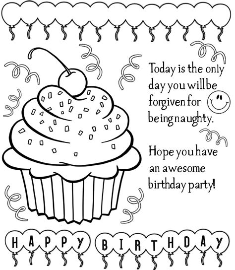 enjoy teaching english birthday cards printable