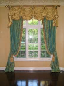 Swags And Cascades Curtains Swag Aka Kingston Valance With Bell Jabots And Cascades Tab Top Style Shitted Onto A Wood
