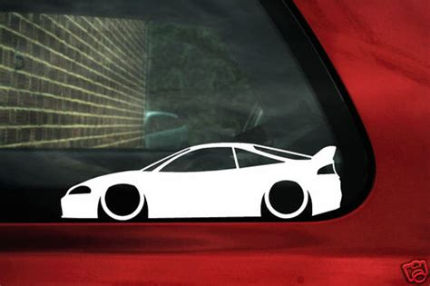mitsubishi eclipse  gs gsx gs  outline silhouette stickers decals