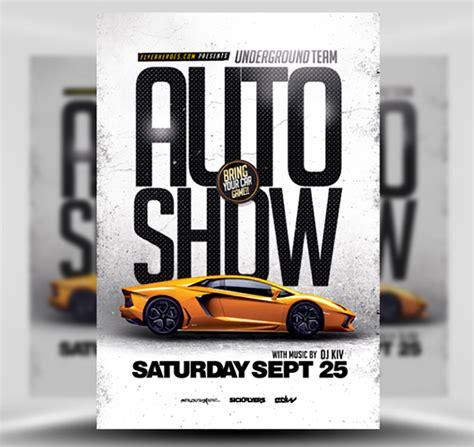 Auto Show Flyer Template Flyerheroes Show Templates