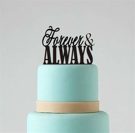 Wedding Cake Topper, Forever And Always Topper, Wedding