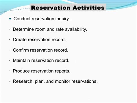 Reservation Inquiry Letter Types Of Reservation