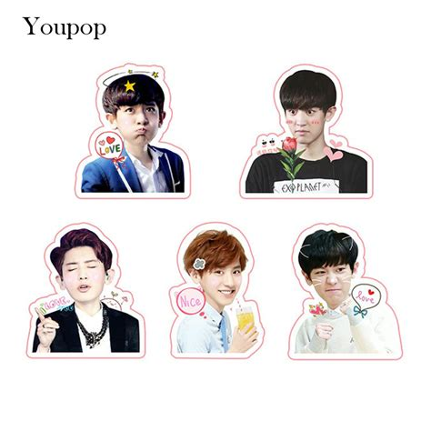 Exo Chanyeol Cheeks Sticker aliexpress buy youpop kpop exo chanyeol album pvc stickers for luggage cup notebook laptop