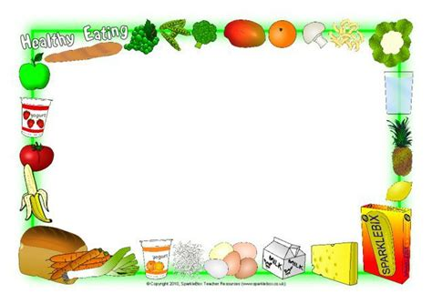 healthy eating  page borders sb sparklebox