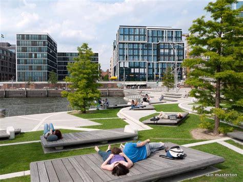 park design management hamburg hafencity in hamburg summer sun landscape architecture