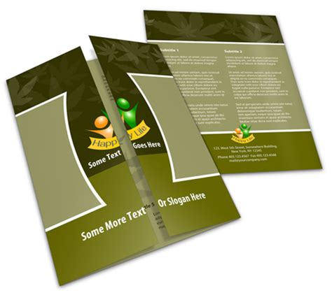11x17 single open gate fold brochure action script set